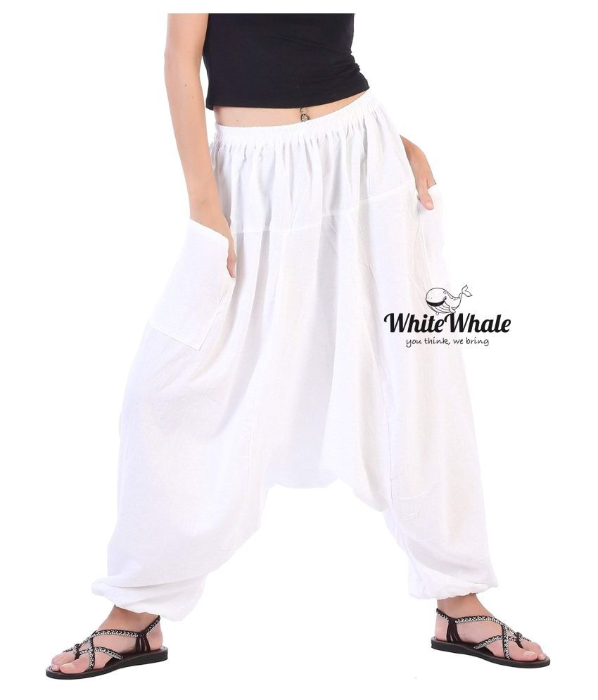 Whitewhale Off White Loose -Fit Harem