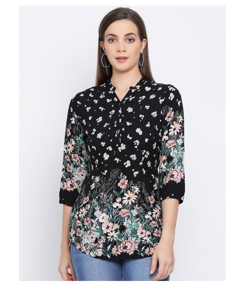 Crimsoune Club Black Rayon Shirt