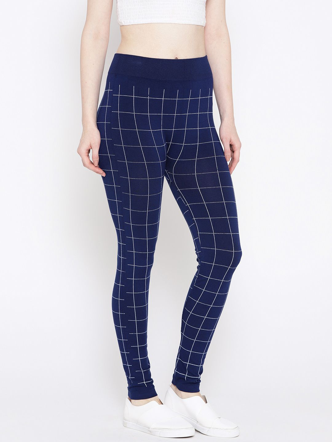 Ants Rayon Jeggings - Blue