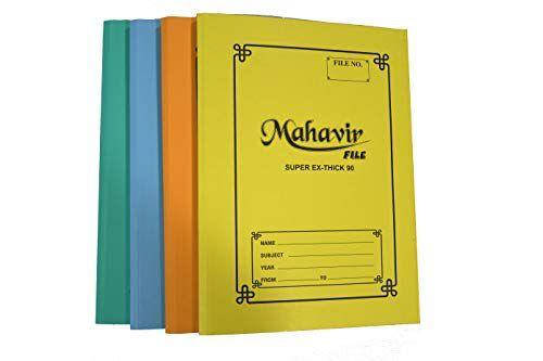 Mahavir Office Clip File Cardboard Paper Office Clip File 90 LBS Thick Cobra Office Clip File Pack of 24 nos.