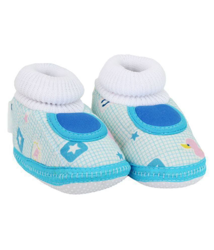 Neska Moda Baby Boys And Girls Blue Anti Slip Booties For 0 To 12 Months-BT286