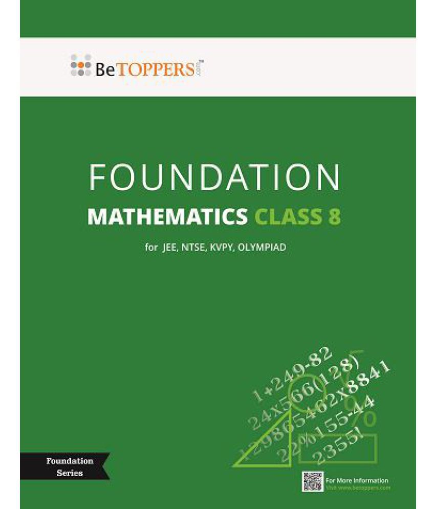 IIT / NTSE /KVPY / Olympiad Foundation Series for Class 8 - Mathematics Book; with Key & Solutions CD-ROM
