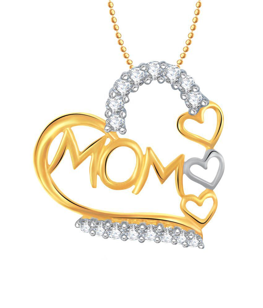 VK Jewels I Love You Mom Gold and