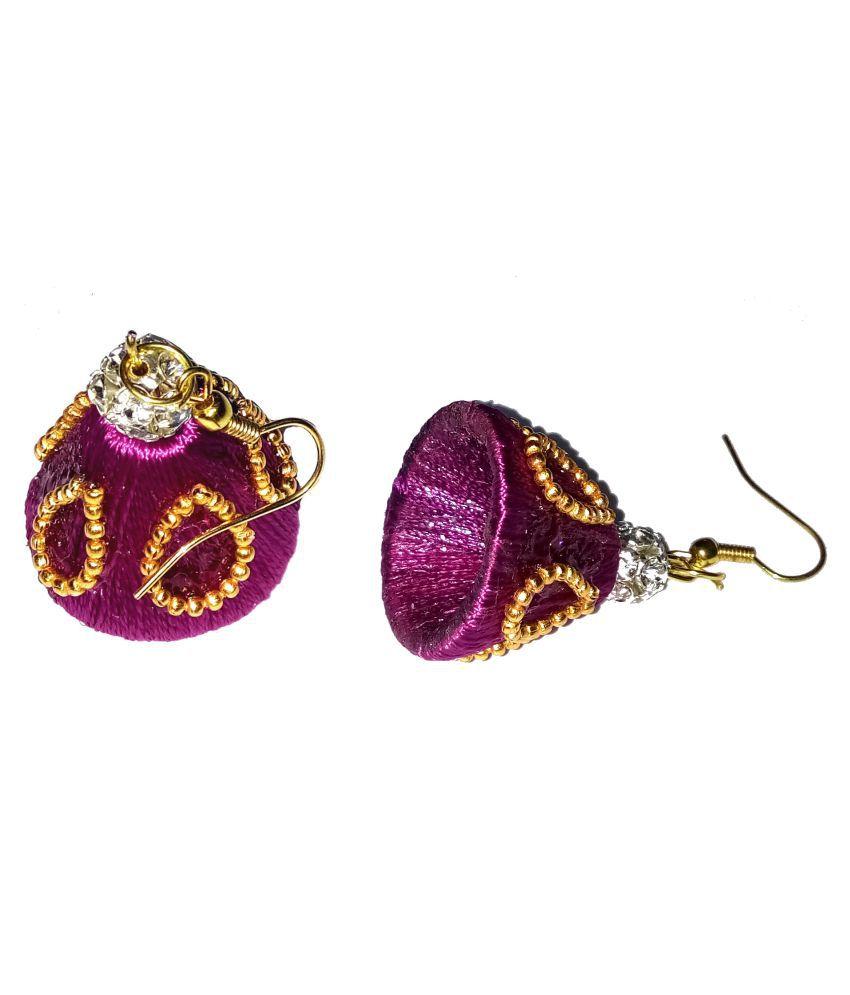 Handmade Silk Thread Earrings By shrungarika