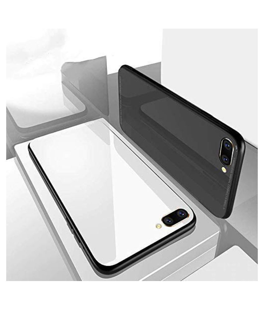 Oppo A5s Glass Cover Doyen Creations White 360 Luxurious Toughened Glass Back Case