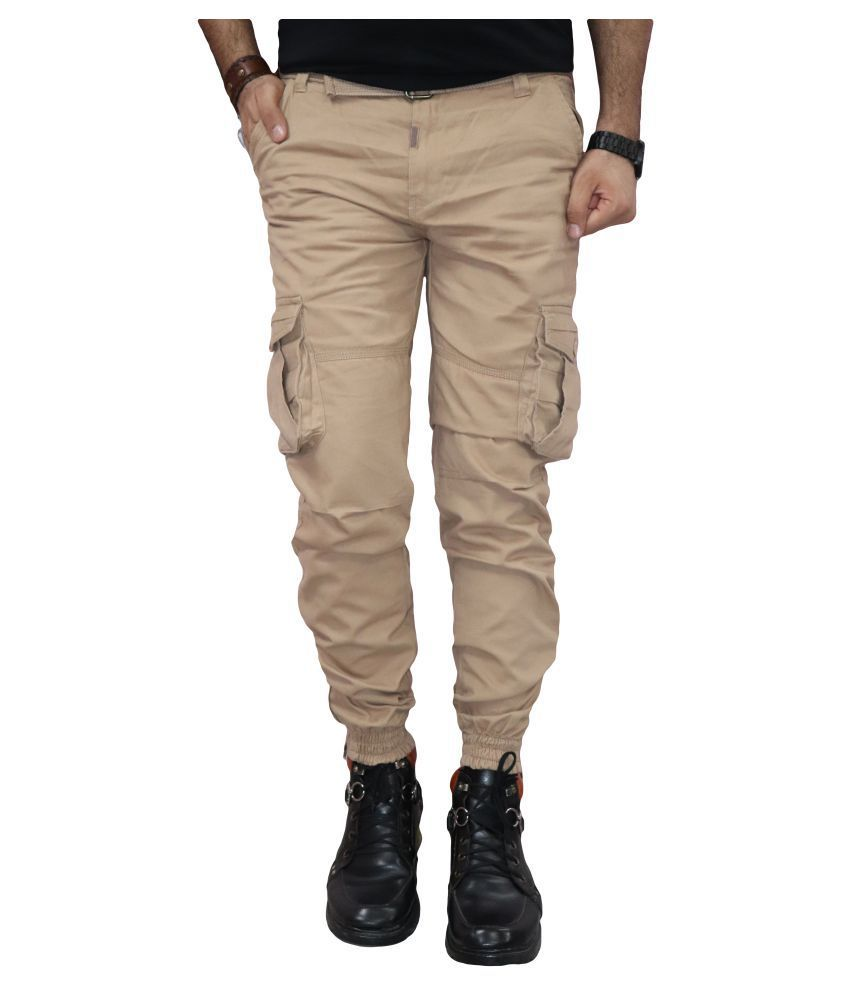 Urban Legends Beige Regular -Fit Flat Cargos