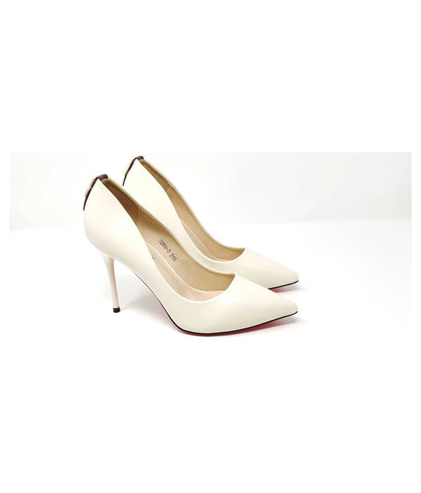 luvora Cream Cone Heels