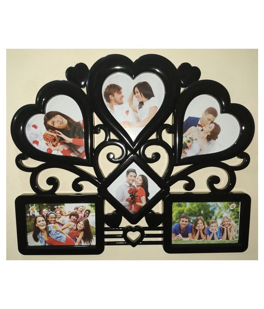 Archie Plastic Table Top & Wall hanging Black Collage Photo Frame - Pack of 1