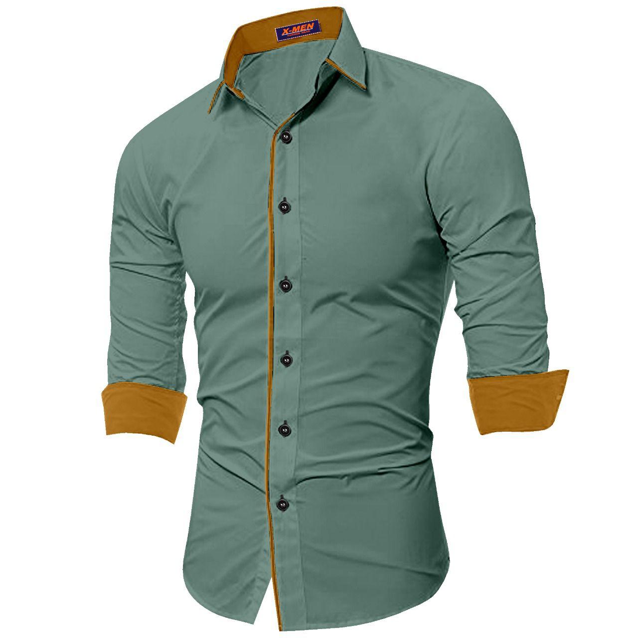SUR-T 100 Percent Cotton Grey Solids Shirt