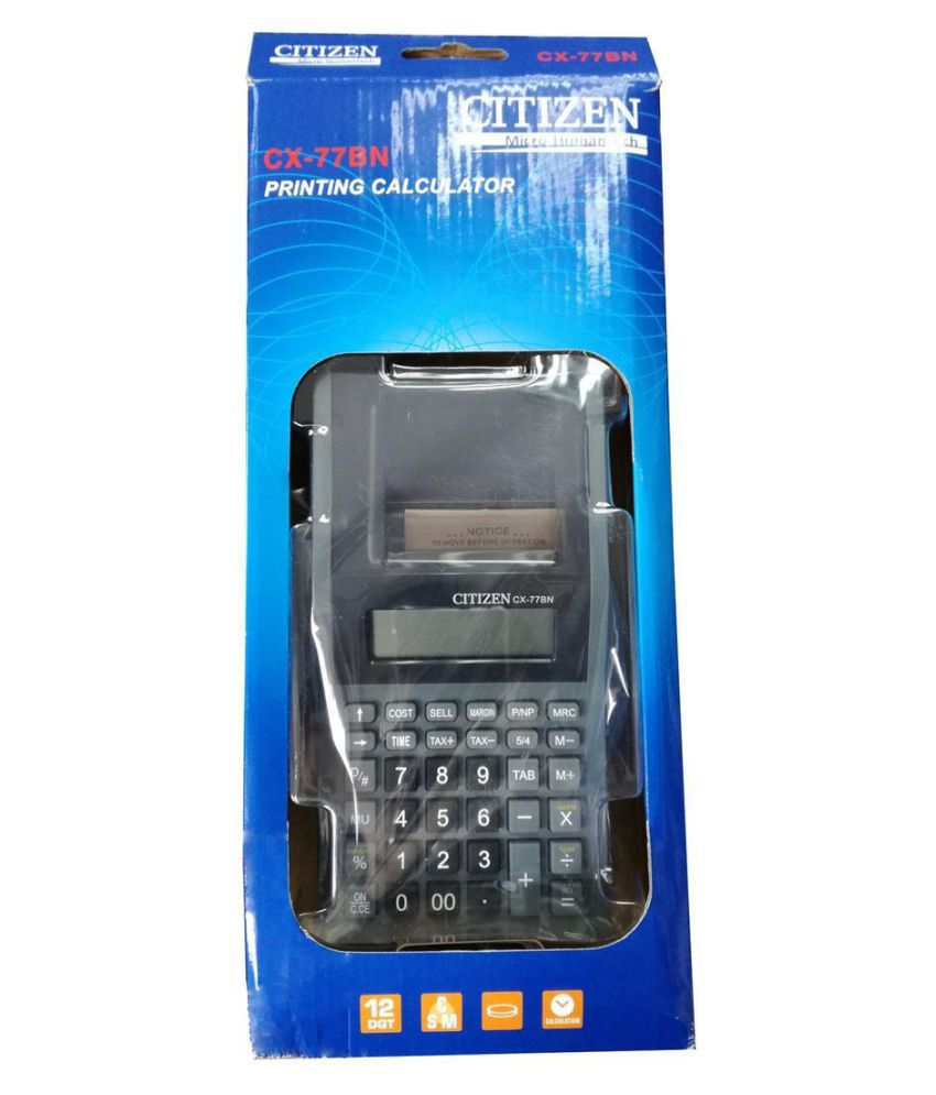 Citizen CX-77 BN Printing Calculator Without Battery & Adaptor