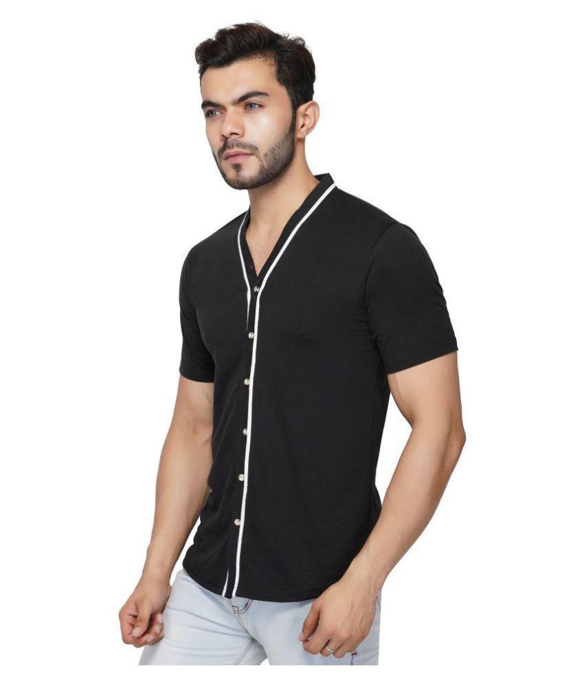 LIBAAS 100 Percent Cotton Black Solids Shirt