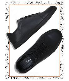 Get Glamr Sneakers Black Casual Shoes