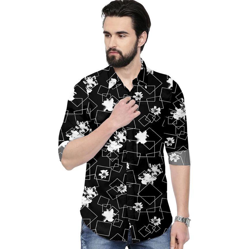 X-men 100 Percent Cotton Black Prints Shirt