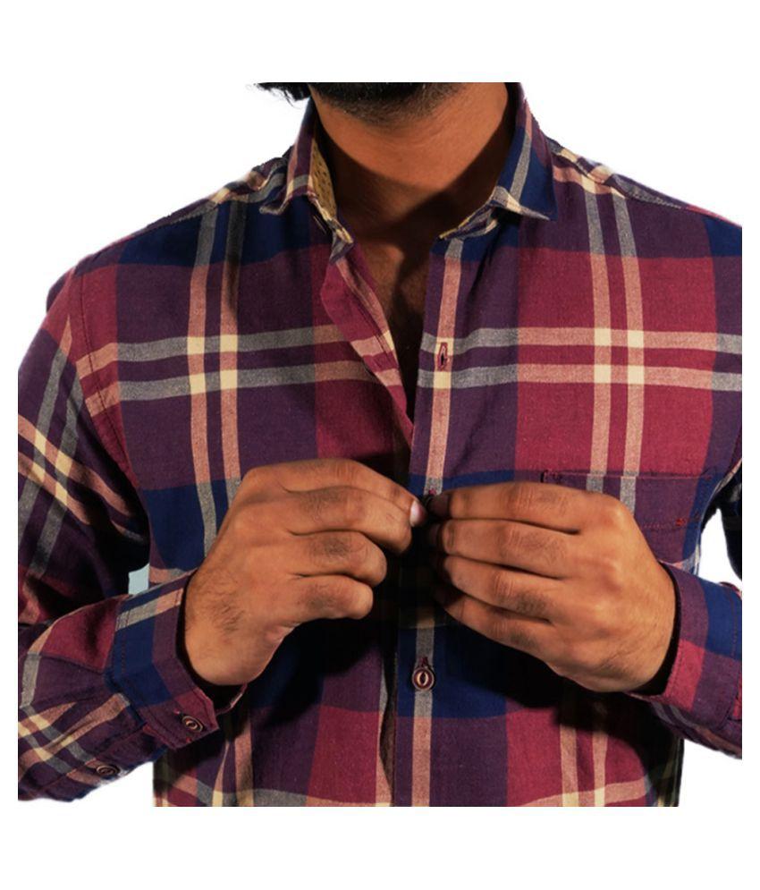 Aarmish 100 Percent Cotton Multi Checks Shirt