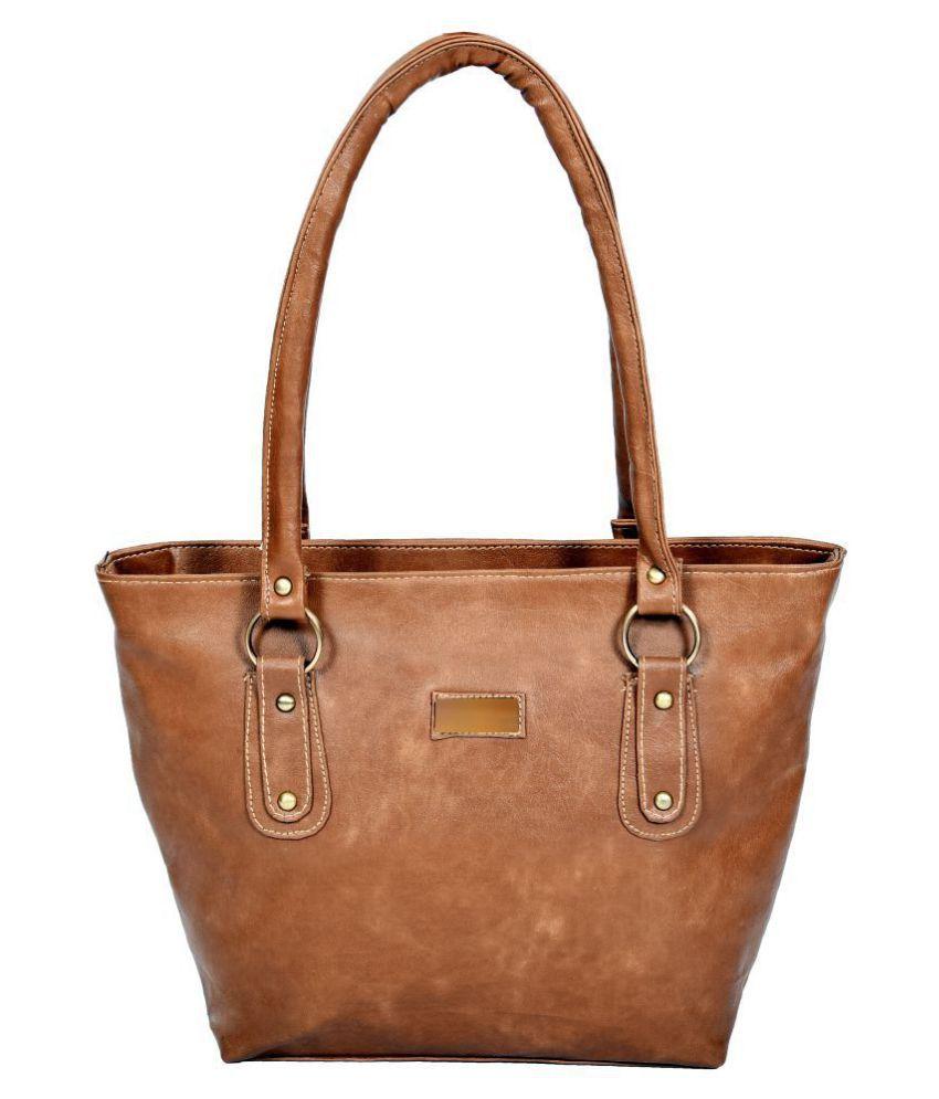 MALIA Tan P.U. Shoulder Bag