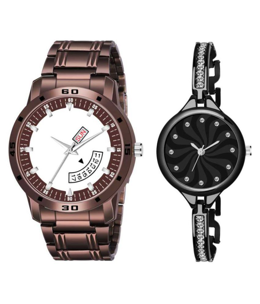 .New...Staylis..Analog...Watch..Super...Combo...Men... &..Women ...Couple..Snap...Diwali....Sale..........