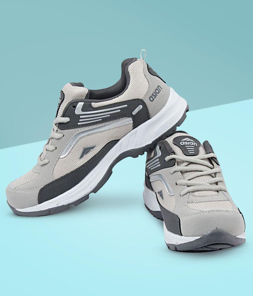 ASIAN FUTURE-01 Gray Running Shoes