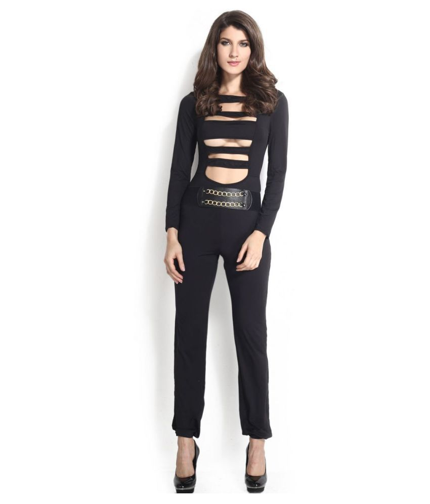 Kaamastra Black Polyester Jumpsuit