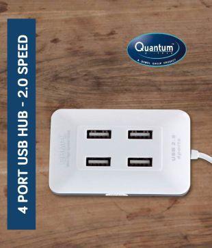 Quantum QHM6633 4 Port 2.0, 480 Mbps Premium USB Hub