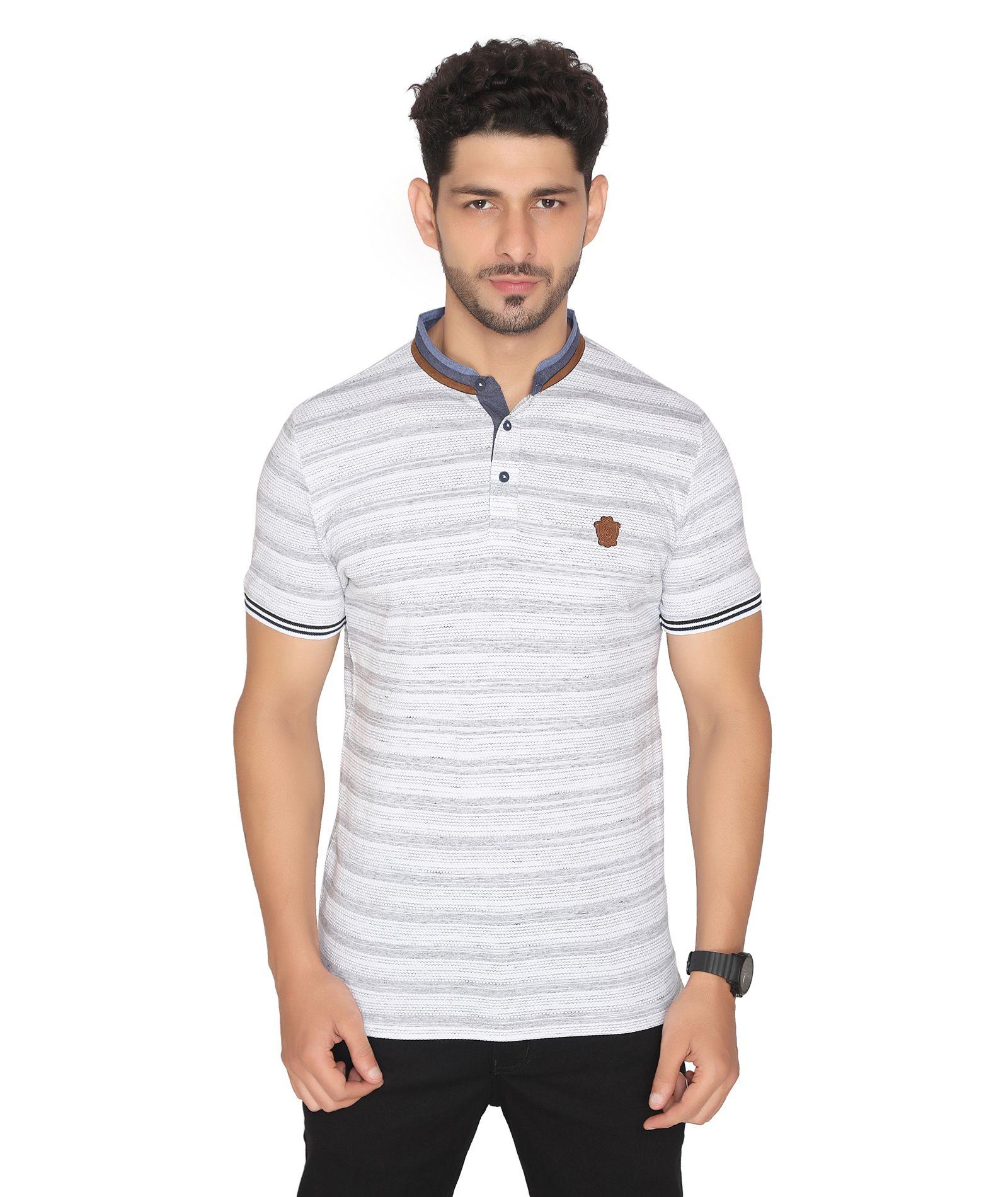 NEXGEN CLUB Cotton Blend White Striper T-Shirt