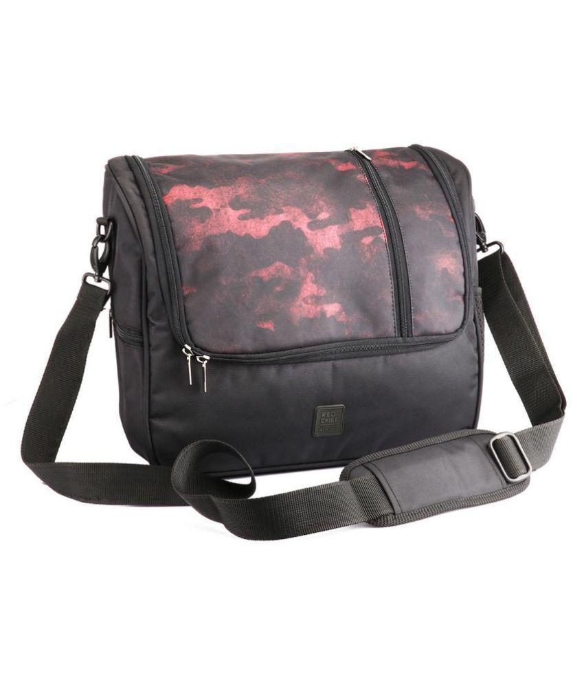 Red Chief B10012 G0021 Black Fabric Casual Messenger Bag