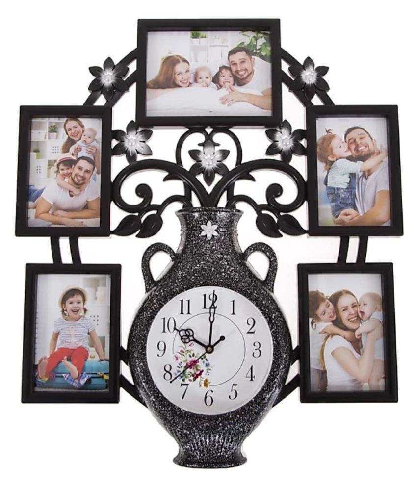 Shagun Plastic Wall Hanging Black Collage Photo Frame - Pack of 1