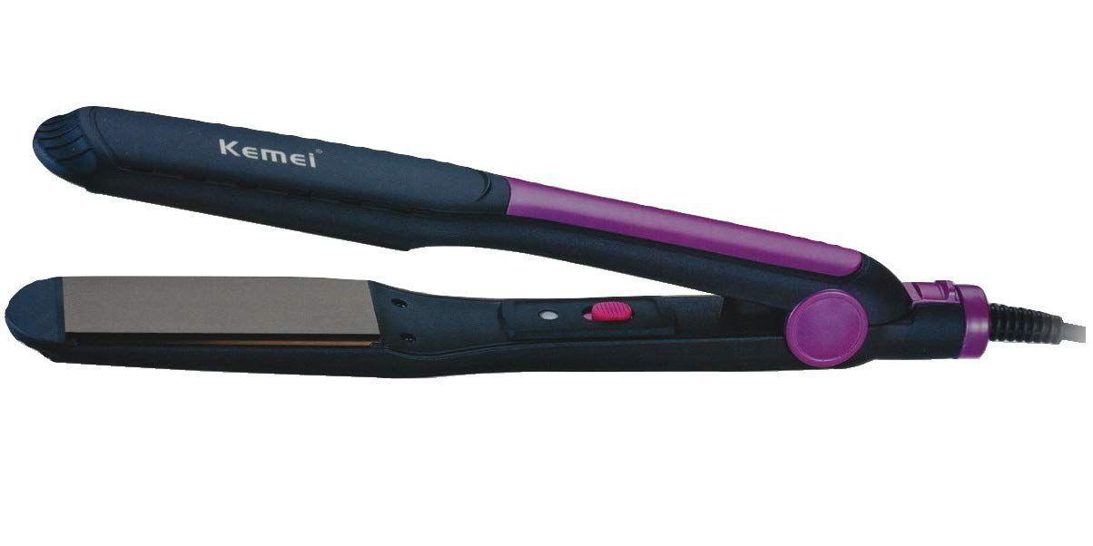 Kemei KM-420 Hair Straightener ( Black )