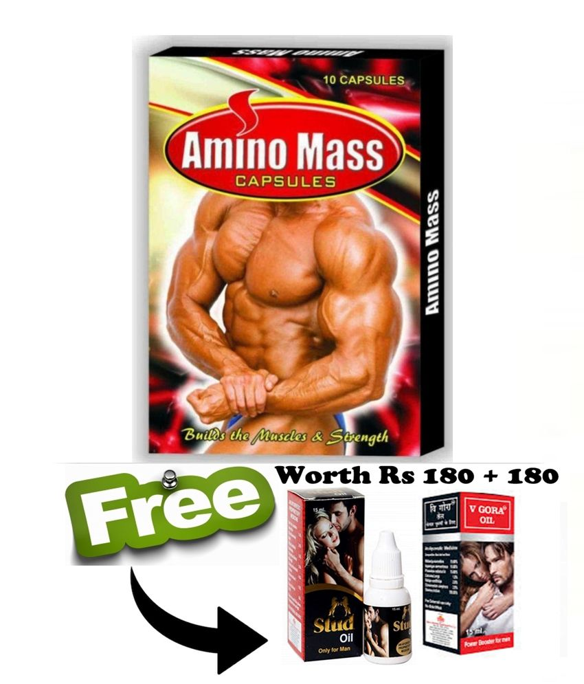 Ayurveda Cure Amino Mass Capsule (10x3=30 Capsules) 30 no.s Weight Gainer Tablets