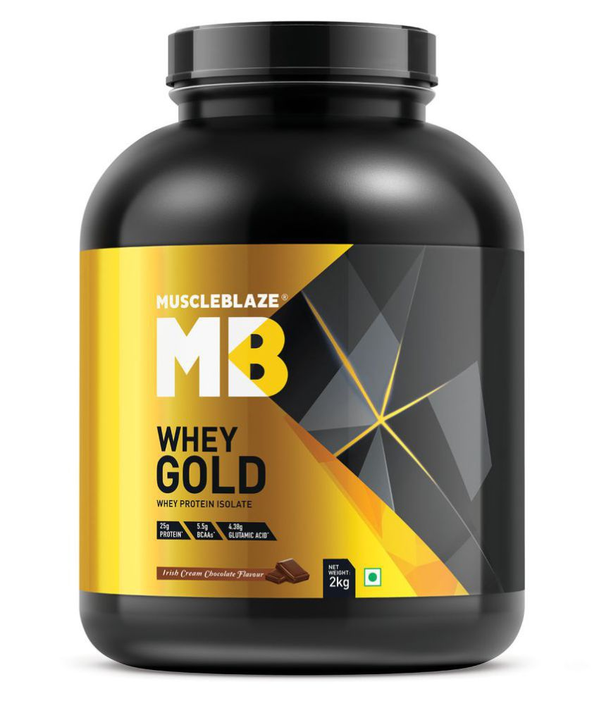MuscleBlaze Whey Gold 100% Whey Protein Isolate 2 kg