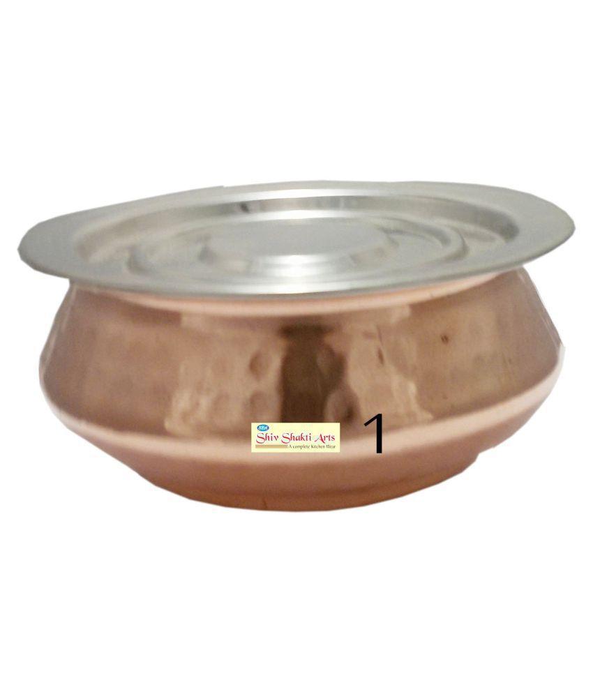 Shiv Shakti Arts Steel Copper Handi 1 Piece Cookware Set