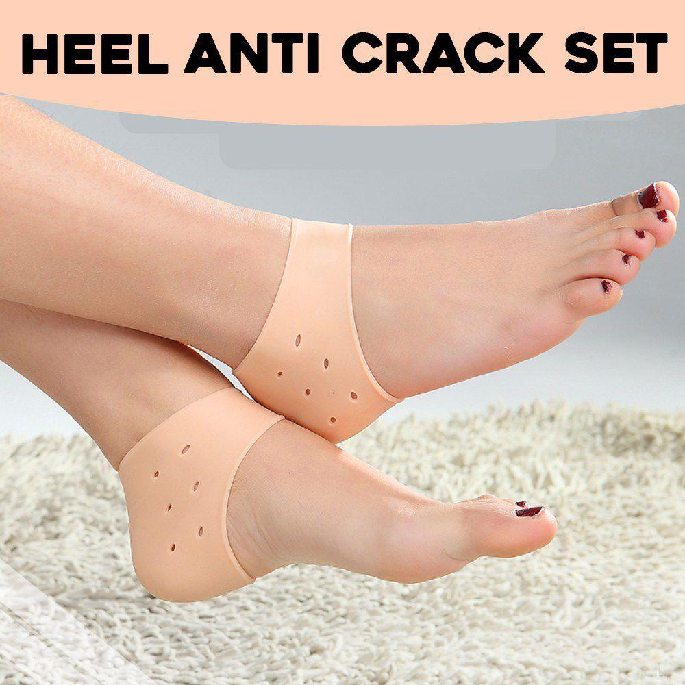 Happy Feet Heel Pain Relief Socks Silicone Dry Hard Crack Heel ANTI CRACK HEEL SOCKS Pack Of 1