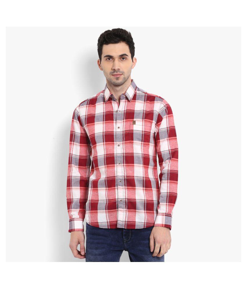 Mufti Cotton Blend Multi Checks Shirt