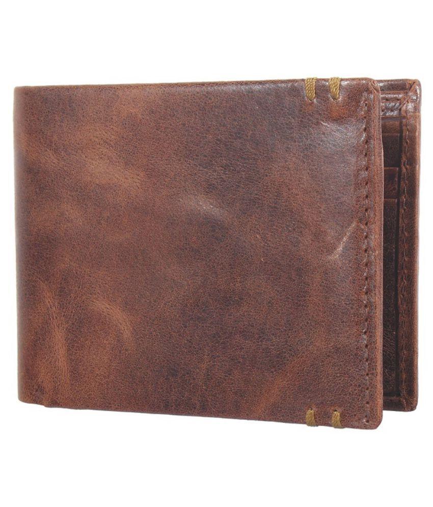 NUKAICHAU Leather Brown Fashion Regular Wallet