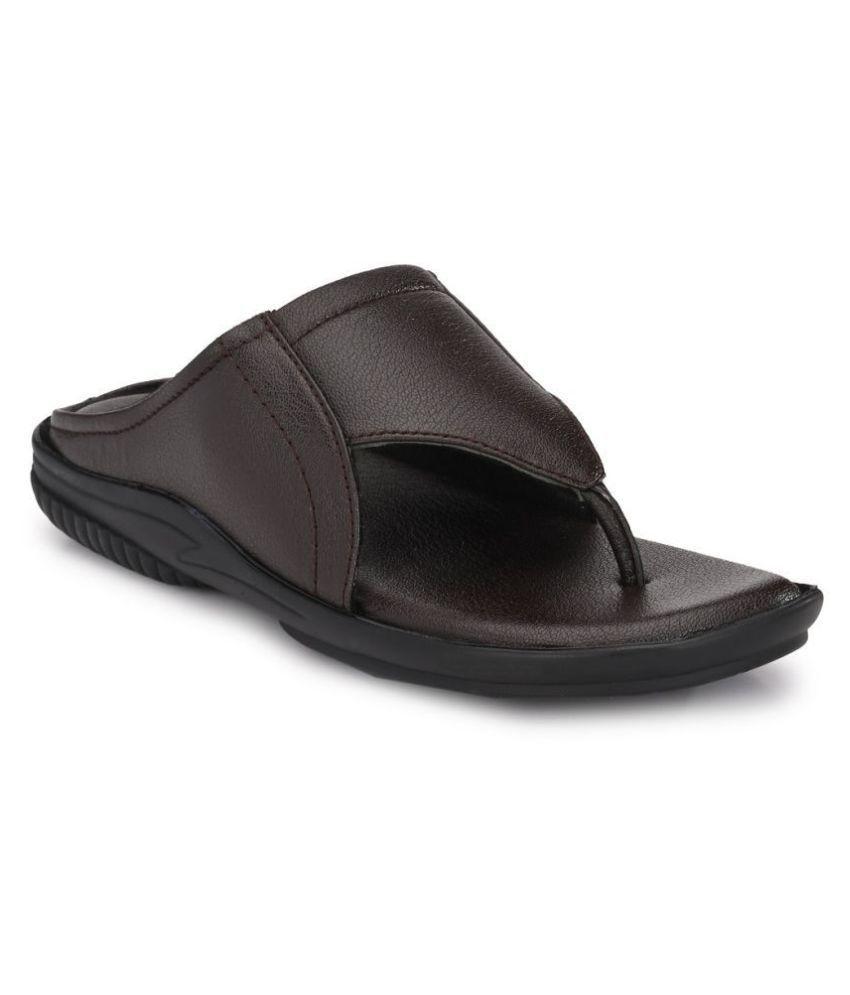 Bucik Brown Leather Slippers