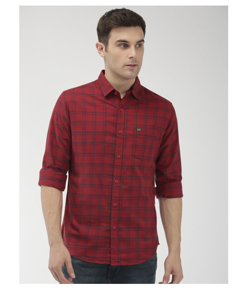 The Indian Garage Co. 100 Percent Cotton Red Checks Shirt