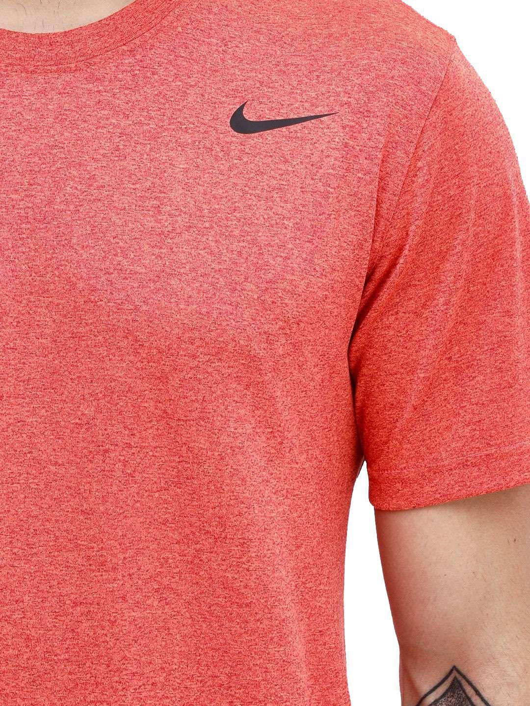 nike dri fit Orange Polyester T-Shirt