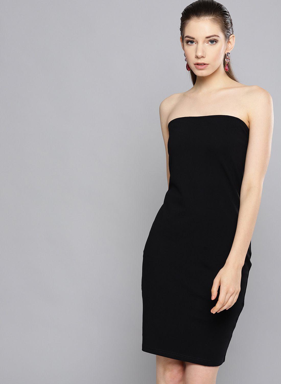 Besiva Cotton Black Regular Dress