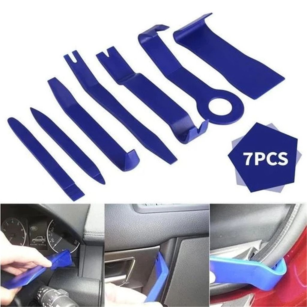 7pc Car Door Upholstery Trim Clip Removal Pliers /& Body Moulding Removing Tools.