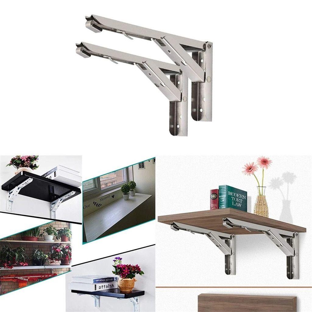 Folding Shelf Brackets 2 Pack 304 Stainless Steel