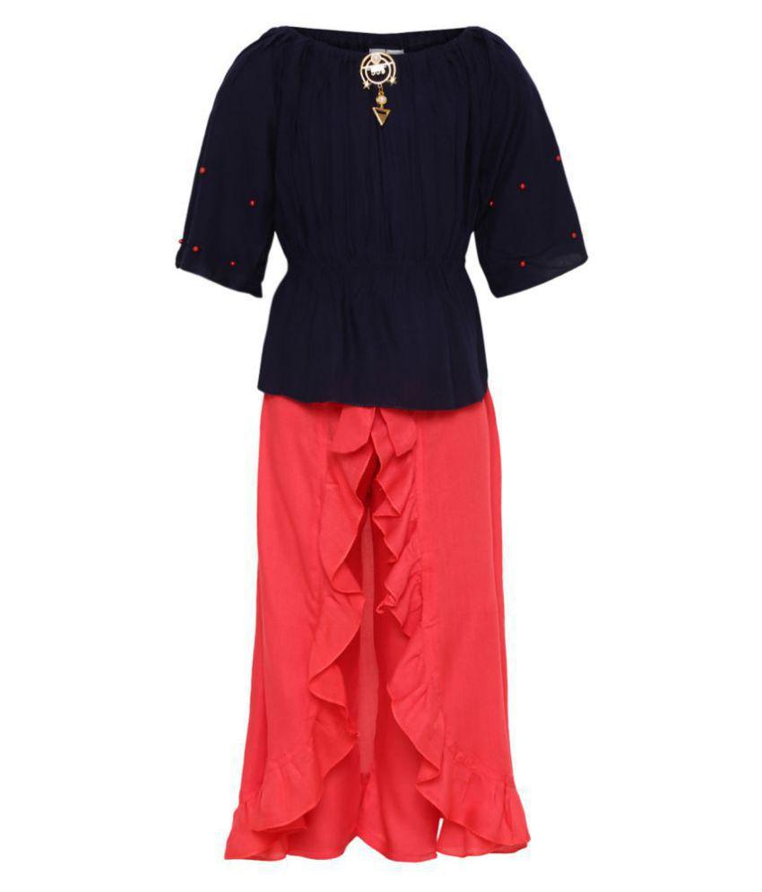 Aarika Girl's Cotton Skirt Top (Gajri_10-11 Years)