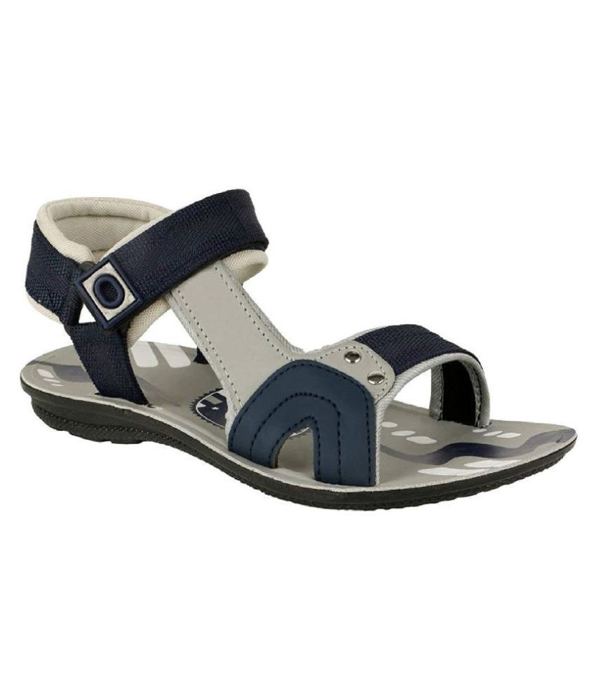 Liboni Gray Synthetic Leather Sandals