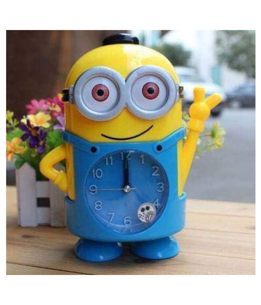 NIHIT A beautifully designed minion style table alarm clock