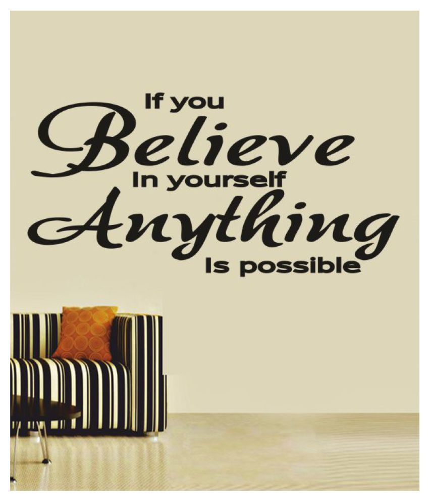 Ritzy Anything Possible Wall Quotes Decal Motivational Quotes Sticker 60 x 30 cms
