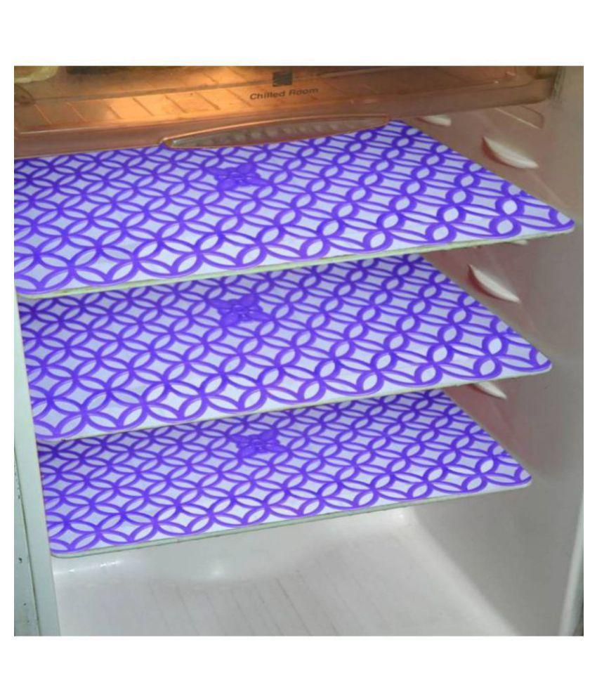 Khushi Creation Set of 6 PVC Blue Fridge Mats