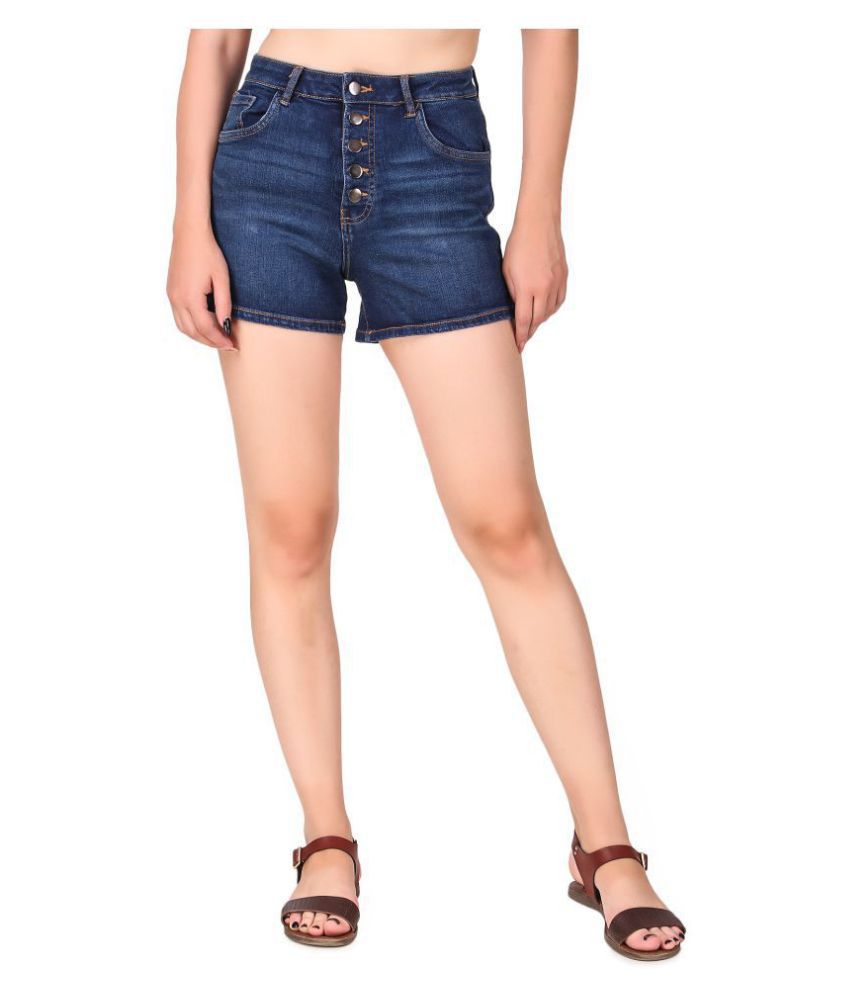 Cali Republic Denim Hot Pants - Blue