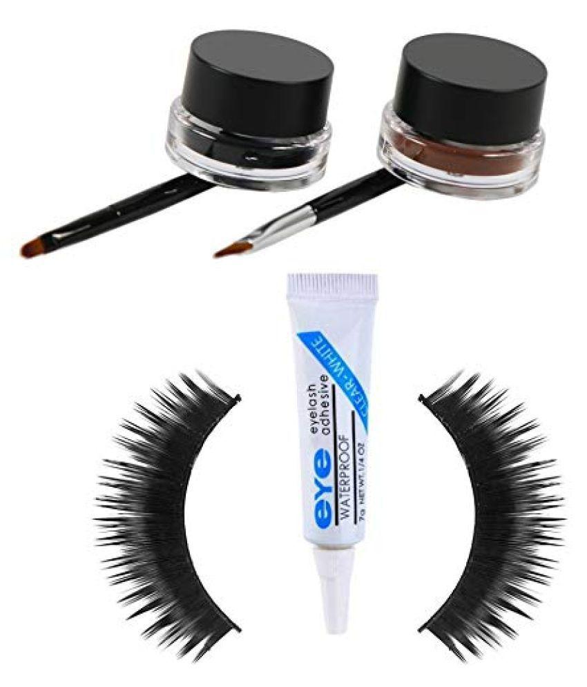Lenon Beauty, Eye Glue, 1 Eyelash, Gel Eyeliner Black Pack of 3 20 g