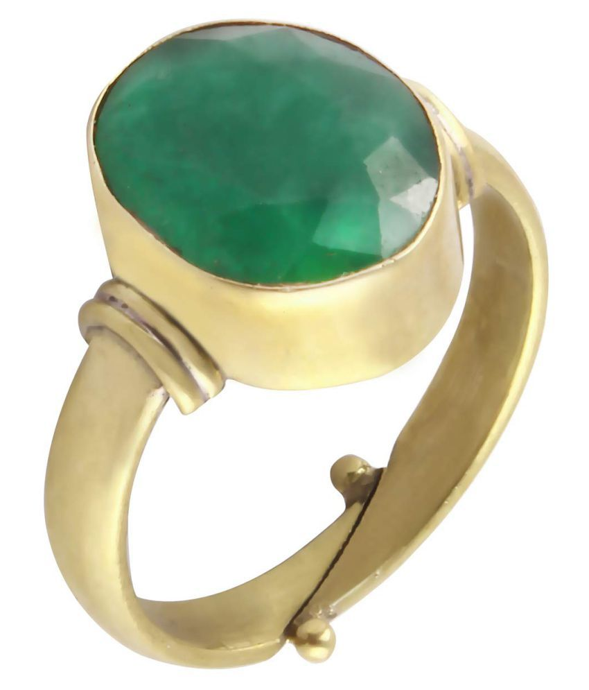 Todani Jems 4.25 Ratti 3.62 Carat Certified EMERALD panna Gemstone Panchdhatu Ring,Panna Emerald Birthstone Astrology Ring For Men