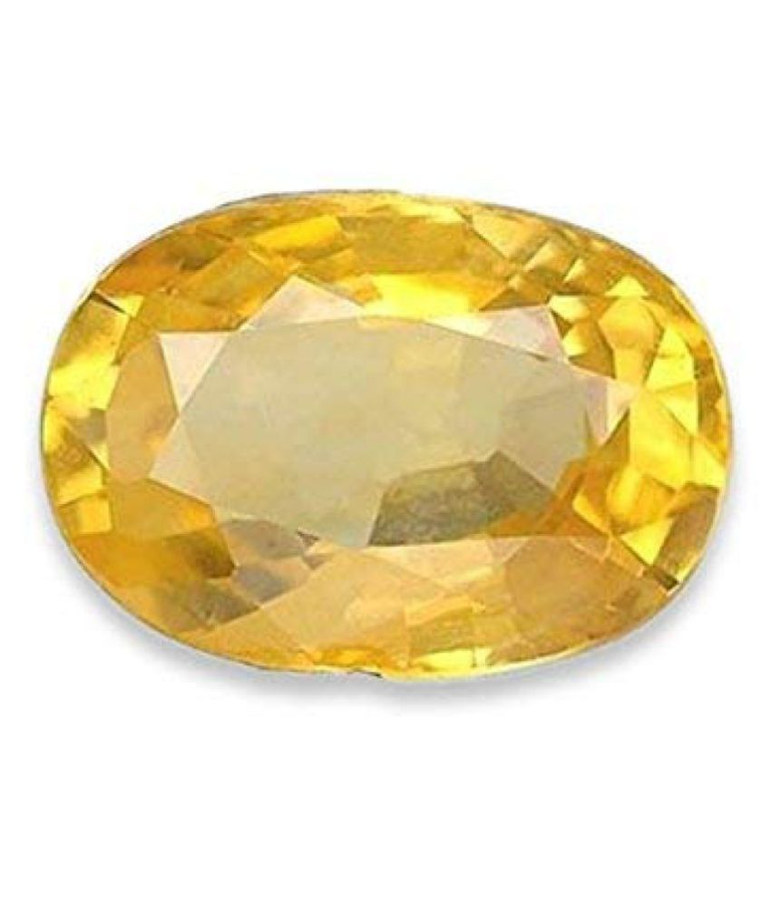 BARMUNDA gems 9 - 9.5 -Ratti Self certified Yellow Sapphire (Pukhraj)