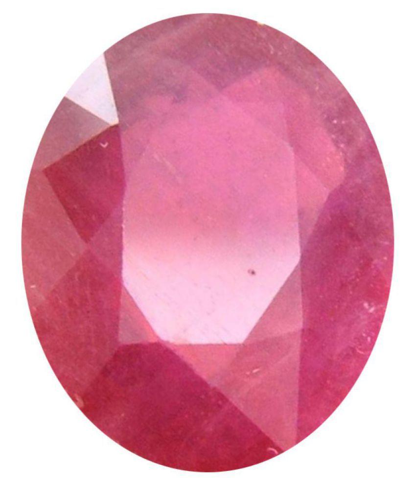 Tejvij And Sons 4.25 -Ratti Self certified Red Ruby Semi-precious Gemstone