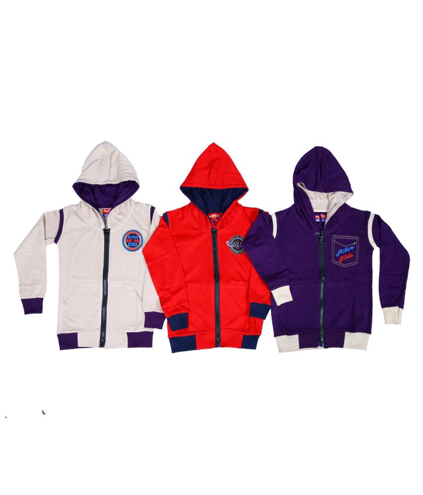 1ly Garments, Boys Hooded Sweatshirt, Pack of 3 pieces